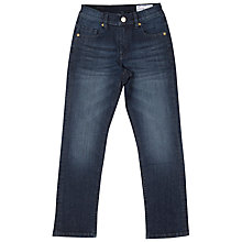 Buy Polarn O. Pyret Children's Dark Jeans, Blue Online at johnlewis.com