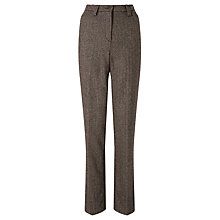 Buy Gardeur Karen Herringbone Straight Trousers, Chocolate Online at johnlewis.com