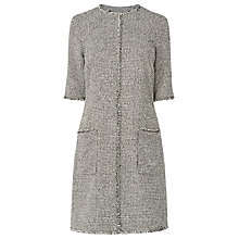 Buy L.K. Bennett Nessa Tweed Shift Dress, Black/Cream Online at johnlewis.com