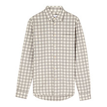 Buy Jigsaw Mouline Check Slim Shirt, Grey Online at johnlewis.com