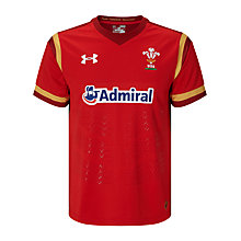 Buy Under Armour Official 2015/16 Welsh Rugby Union Shirt, Red/White Online at johnlewis.com