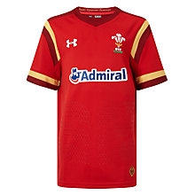 Buy Under Armour Boys' Official 2015/16 Welsh Rugby Union Shirt, Red/White Online at johnlewis.com