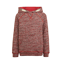 Buy John Lewis Boys' Twist Yarn Hoodie, Red Online at johnlewis.com