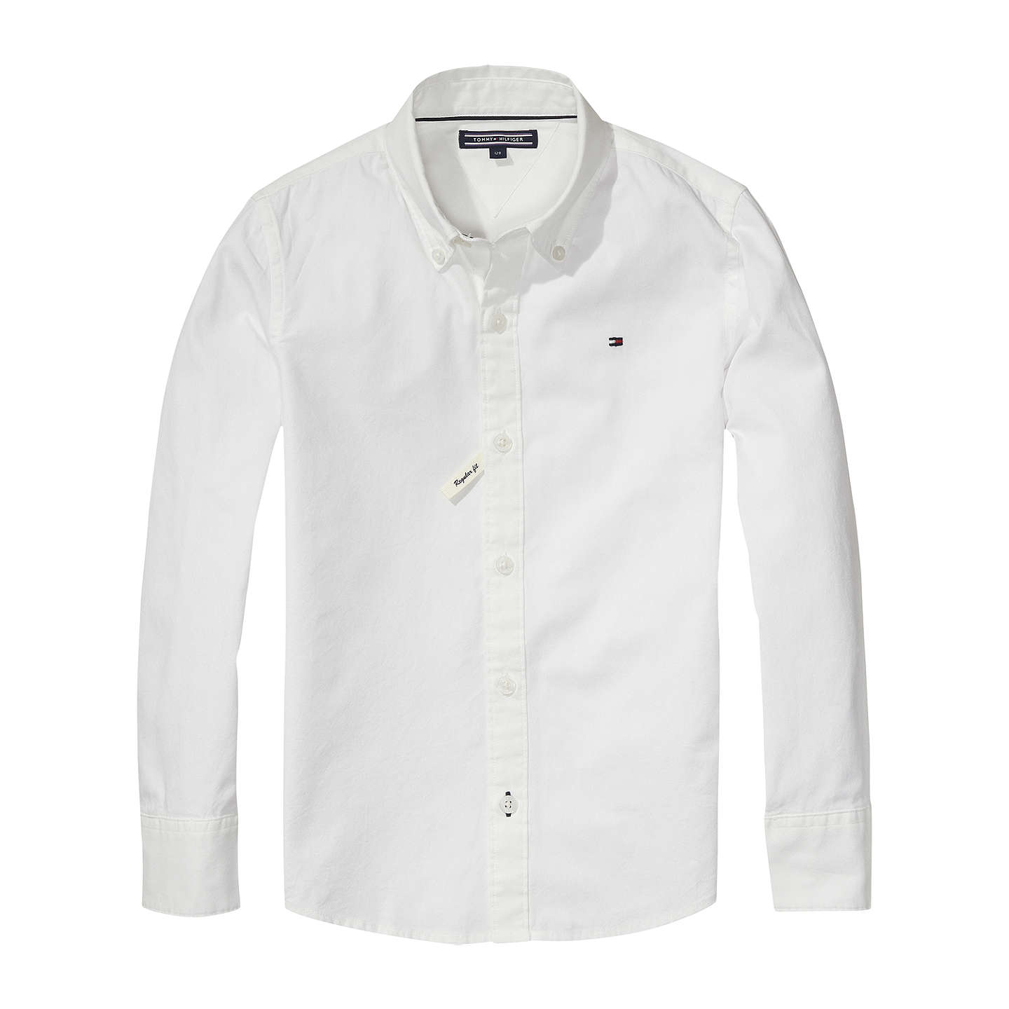 Tommy Hilfiger Boys Oxford Shirt White at John Lewis
