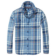 Buy Tommy Hilfiger Boys' Cotton Check Shirt, Blue Online at johnlewis.com