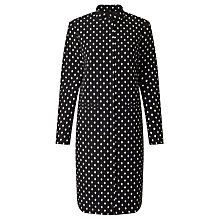 Buy Bruce by Bruce Oldfield Jacquard Spot Frock Coat, Black Online at johnlewis.com