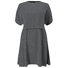 Buy Phase Eight Elois Geo Swing Dress, Black/Ivory Online at johnlewis.com