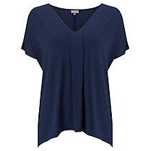 Buy Phase Eight Pleat Front Top, Navy Online at johnlewis.com