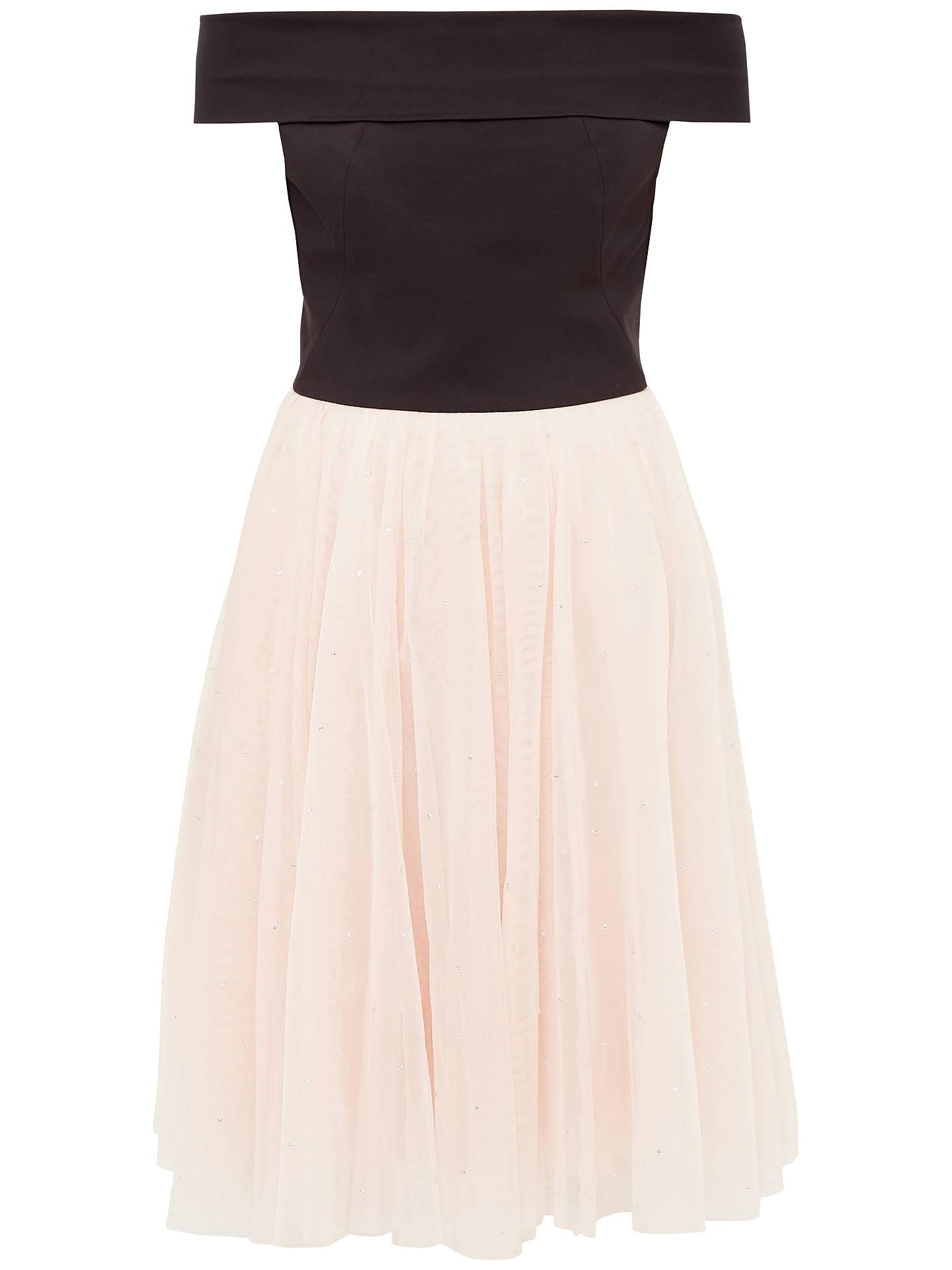 cd0ceda1af Buy Ted Baker Prinsie Bardot Tutu Dress, Black, 0 Online at johnlewis.com  ...