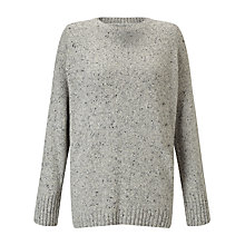 Buy Barbour Heritage Cloudy Jumper, Grey Melange Online at johnlewis.com