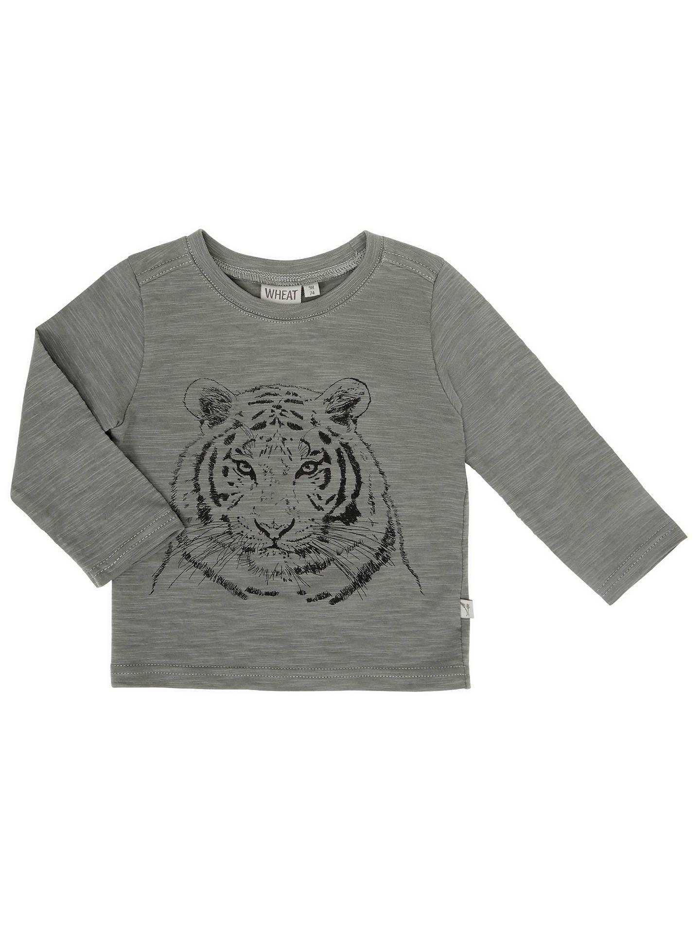 6510346c5 Buy Wheat Baby Tiger Print T-Shirt, Grey, 18 months Online at johnlewis ...