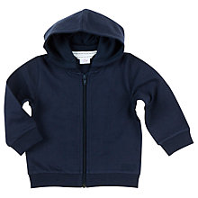 Buy Polarn O. Pyret Baby Hoodie, Blue Online at johnlewis.com