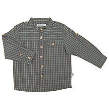 Buy Wheat Baby Checked Long Sleeve Shirt, Grey Online at johnlewis.com