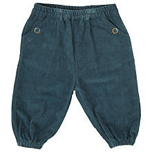 Buy Serendipity Baby Organic Cotton Trousers, Blue Online at johnlewis.com