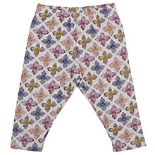 Buy Serendipity Baby Flower Print Organic Leggings, Grey/Multi Online at johnlewis.com