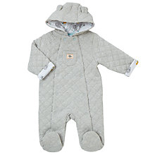 Buy John Lewis Baby Elephant Wadded Pramsuit, Grey Online at johnlewis.com
