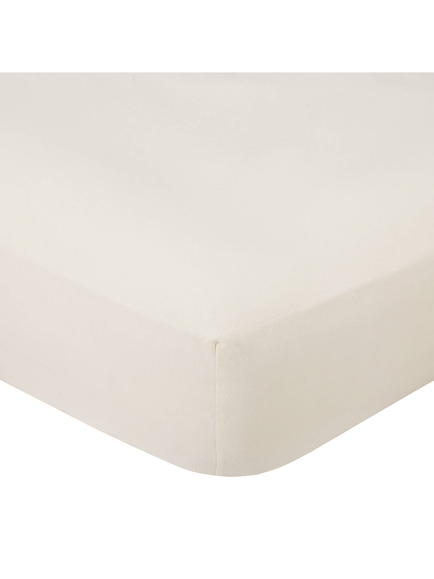 Buy John Lewis & Partners Warm & Cosy Brushed Cotton Fitted Sheet, Single, Cream Online at johnlewis.com