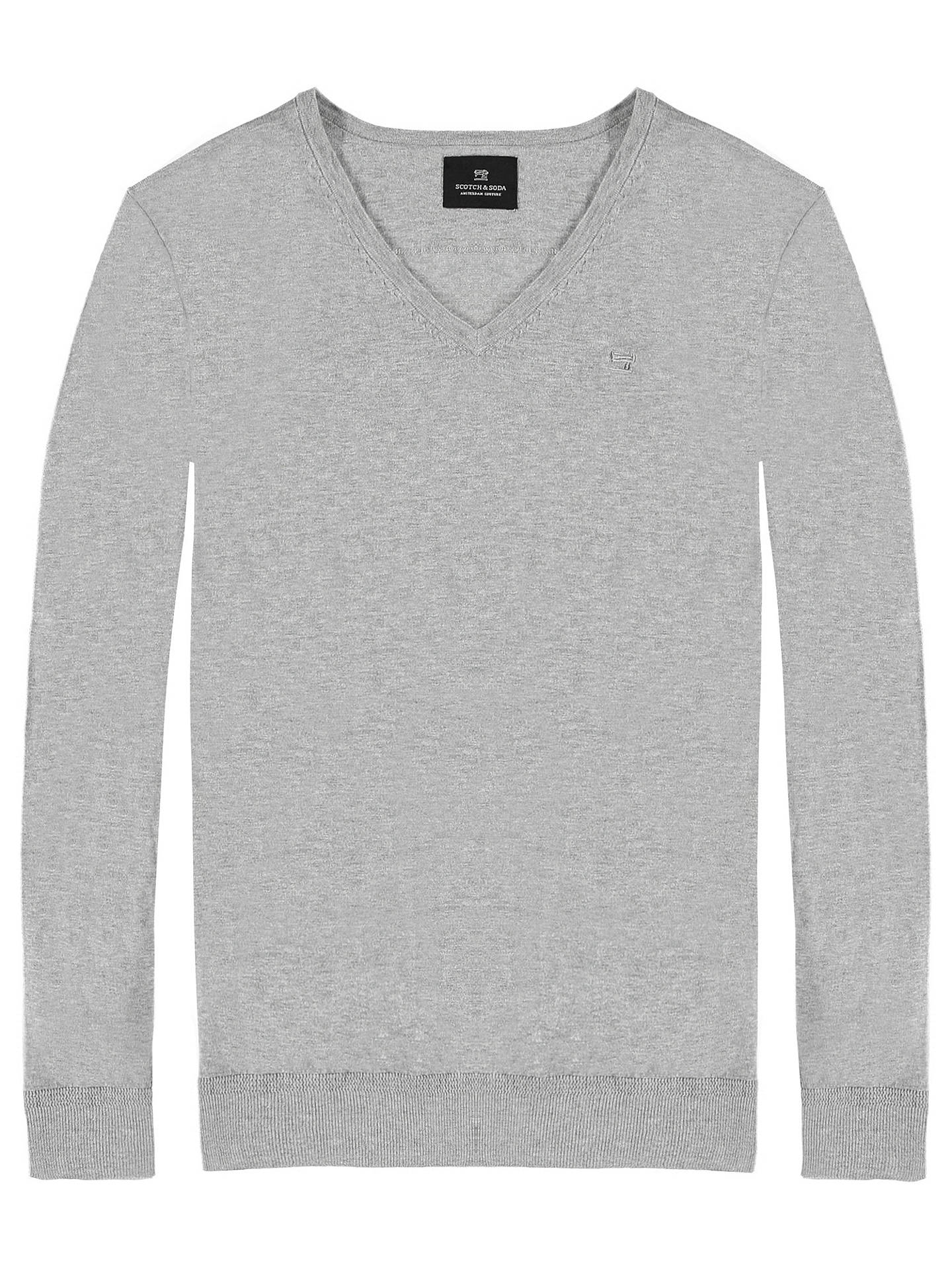 BuyScotch & Soda Classic V-Neck Jumper, Grey Melange, S Online at johnlewis.com