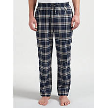 Buy BOSS Cotton Check Pyjama Bottoms, Navy Online at johnlewis.com