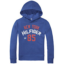 Buy Tommy Hilfiger Boys' Hawk Pullover Hoodie, Blue Online at johnlewis.com