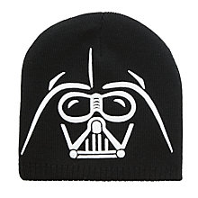 Buy Star Wars Children's Darth Vader Beanie Hat, Black/White Online at johnlewis.com