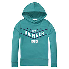 Buy Tommy Hilfiger Boys' Hawk Pullover Hoodie, Light Blue Online at johnlewis.com