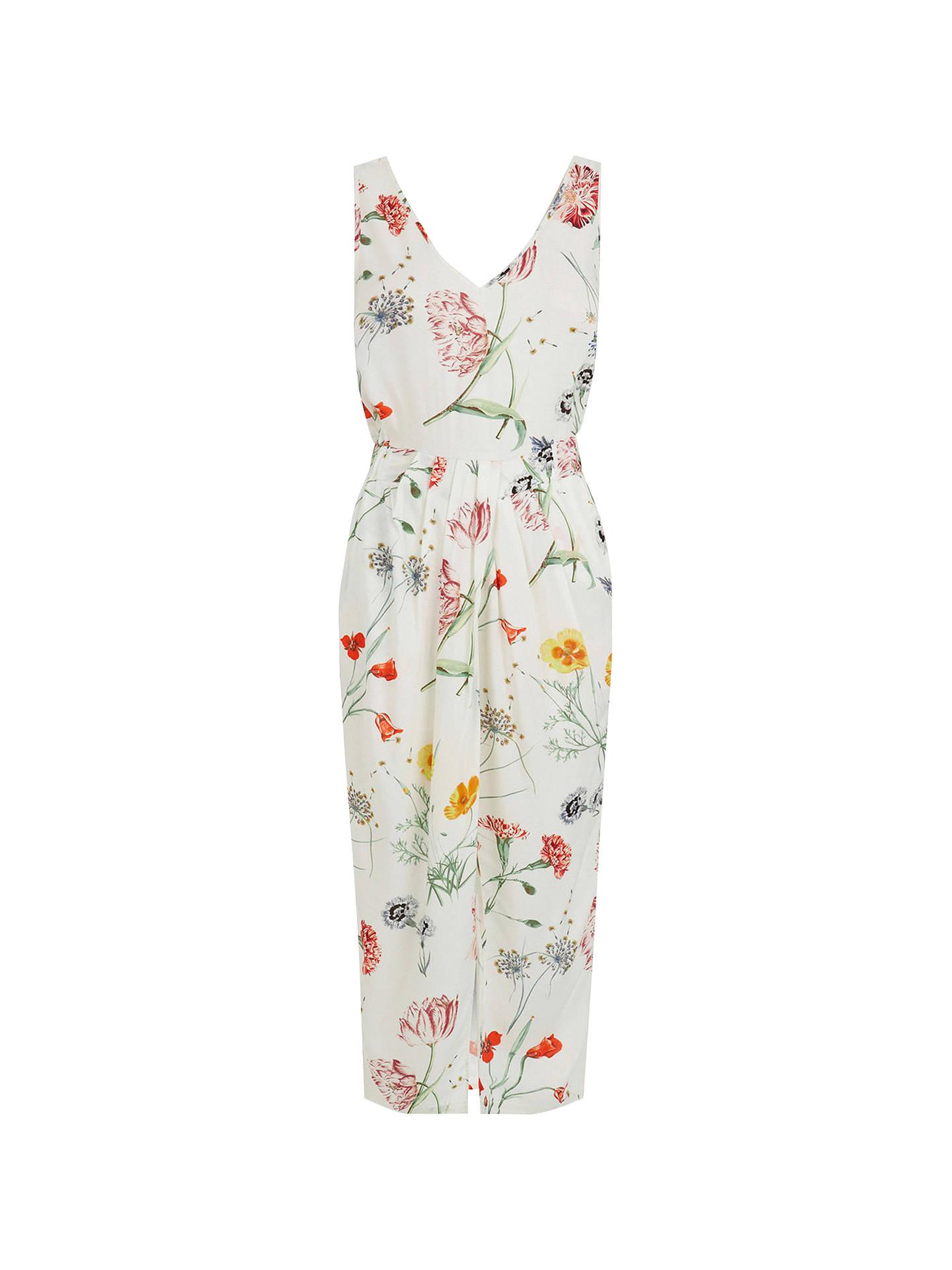 3435cb6eca969 Buy Warehouse Scatter Floral Sleeveless Dress, Neutral Print, 6 Online at  johnlewis.com ...