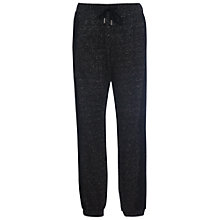 Buy French Connection Douglas Sweat Lace Trimmed Joggers, Black Marl Online at johnlewis.com