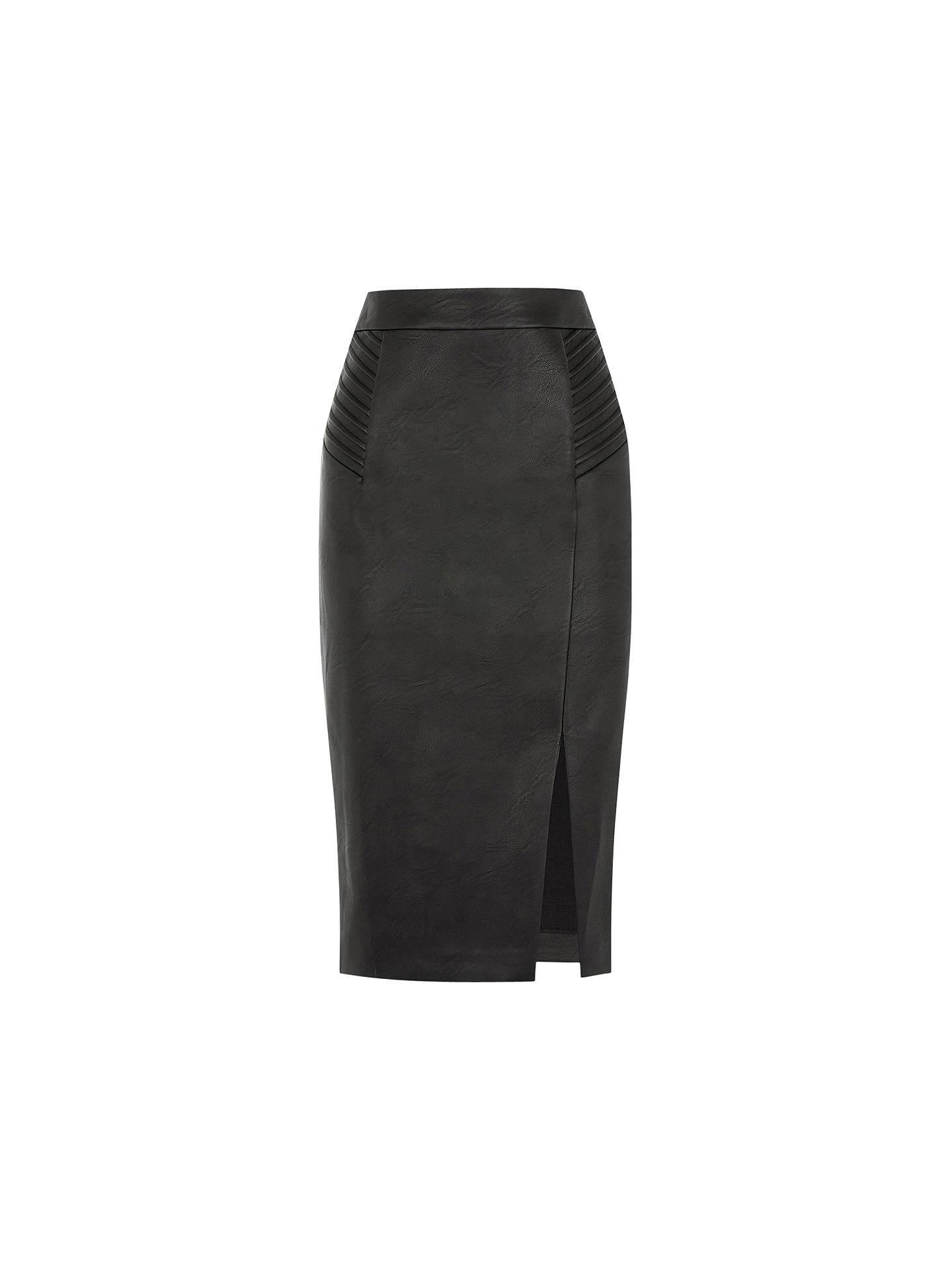 63022a7ec BuyOasis Pintuck Wrap Pencil Skirt, Black, 8 Online at johnlewis.com ...