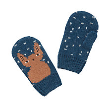 Buy Donna Wilson for John Lewis Children's Bunny Mittens, Navy Online at johnlewis.com