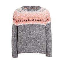 Buy John Lewis Girls' Fair Isle Jumper, Grey Online at johnlewis.com