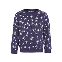 Buy John Lewis Girls' Floral Sweatshirt, Blue Online at johnlewis.com