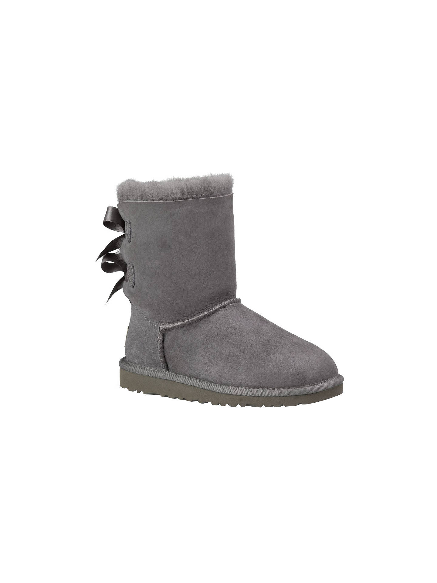 e1e4c2b44d1 UGG Children's Bailey Bow Boots, Grey at John Lewis & Partners