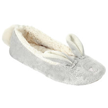 Buy John Lewis Children's 3D Bunny Slippers, Grey Online at johnlewis.com
