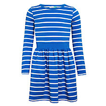 Buy John Lewis Girls' Striped Skater Dress, Blue Online at johnlewis.com