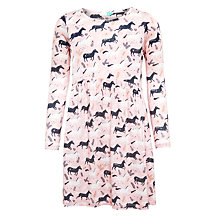 Buy John Lewis Girls' Horse Print Dress, Coral Blush Online at johnlewis.com
