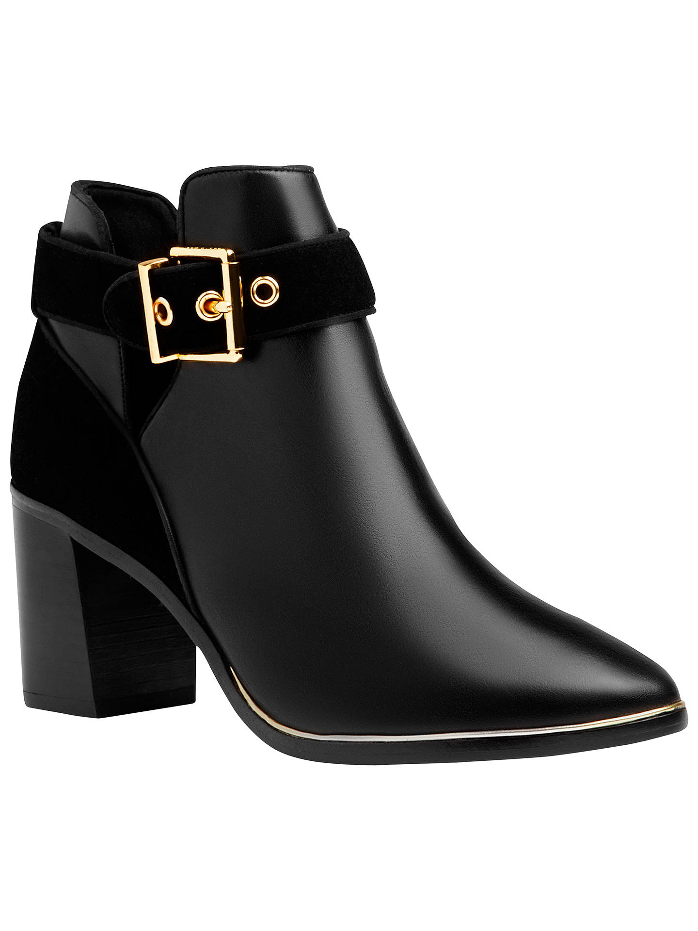 BuyTed Baker Nissie Block Heel Ankle Boots, Black, 4 Online at johnlewis.com