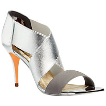 Buy Ted Baker Leniya Cross Strap Sandals, Silver Leather Online at johnlewis.com