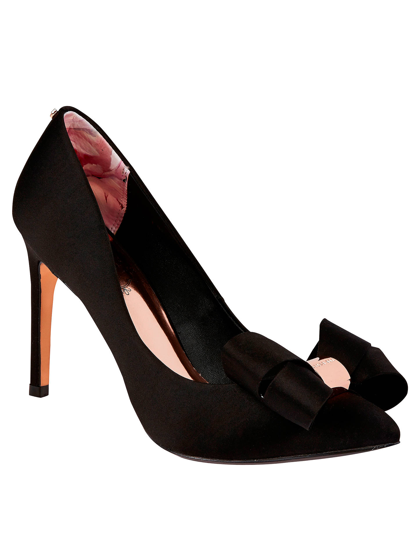 7dafeb27e09 Ted Baker Ichlibi Pointed Toe Stiletto Court Shoes, Black at John ...