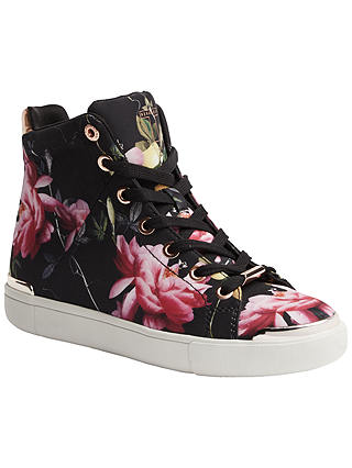 Buy Ted Baker Vleil High Top Flat Trainers, Citrus Bloom Print, 4 Online at johnlewis.com