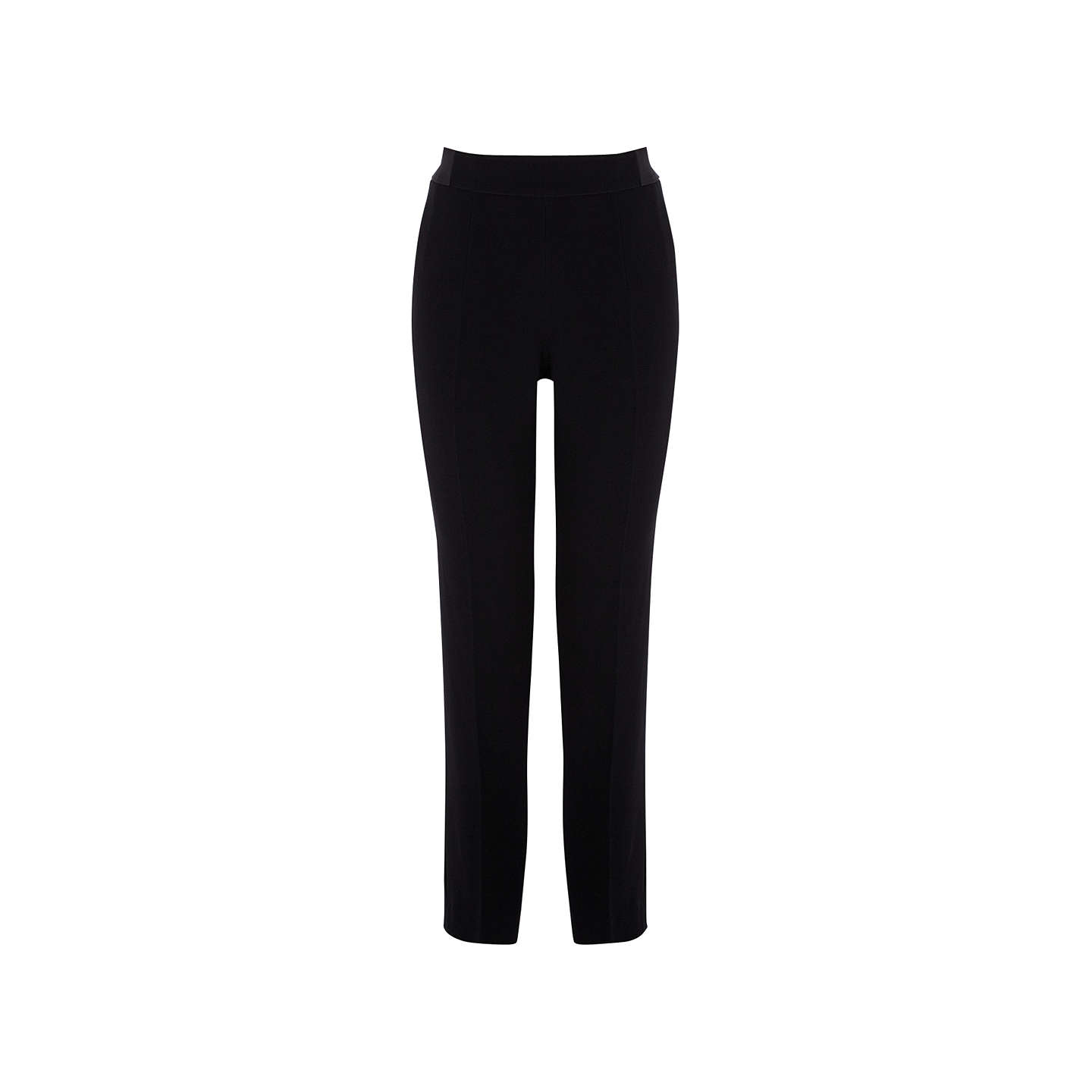 BuyCoast Shorter Length Seville Zip Detail Trousers, Black, 6 Online at johnlewis.com