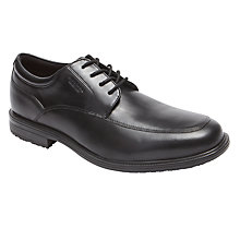 Buy Rockport Essential Details 2 Waterproof Apron Toe Leather Derby Shoes, Black Online at johnlewis.com
