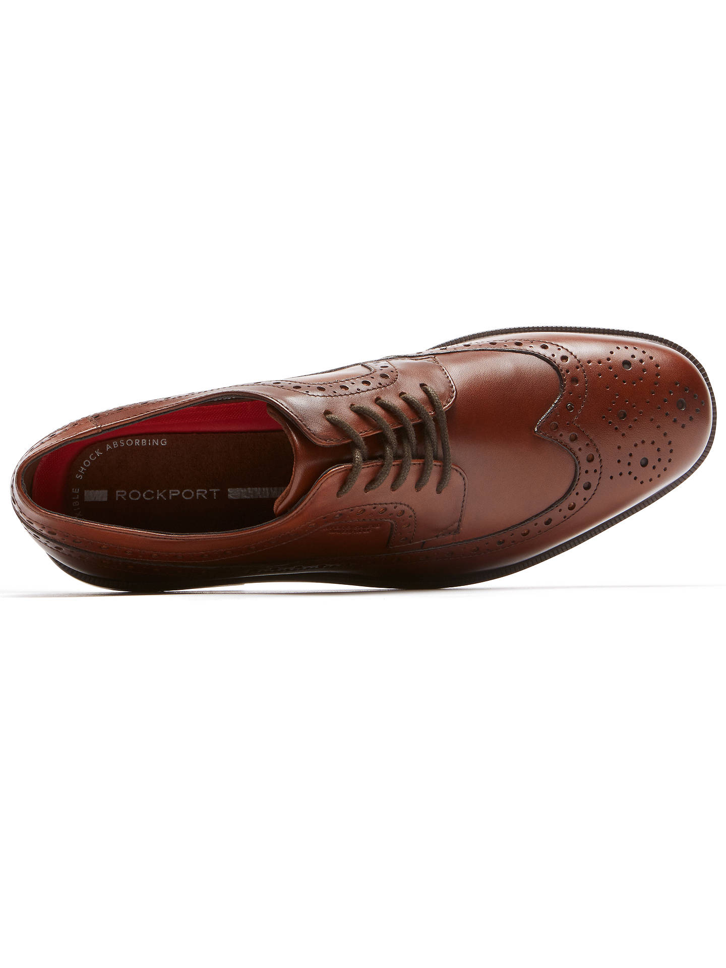 BuyRockport Esssential Details 2 Waterproof Wingtip Brouges, Tan, 7 Online at johnlewis.com
