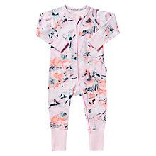 Buy Bonds Baby Zip Sea Floral Wondersuit Sleepsuit, Multi Online at johnlewis.com
