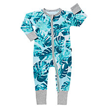 Buy Bonds Baby Zip Tropical Suns Wondersuit Sleepsuit, Blue Online at johnlewis.com