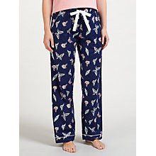 Buy John Lewis Nina Butterfly Print Pyjama Bottoms, Navy/Multi Online at johnlewis.com