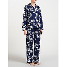 Buy John Lewis Floral Print Pyjama Set, Navy/Ivory Online at johnlewis.com
