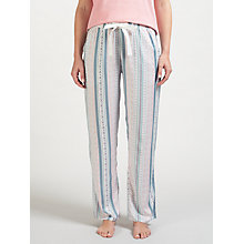 Buy John Lewis Lottie Print Pyjama Bottoms, Coral/Multi Online at johnlewis.com