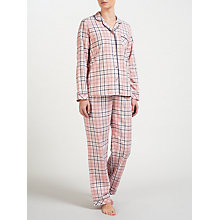 Buy John Lewis Sophie Check Pyjama Set, Pink/Navy Online at johnlewis.com