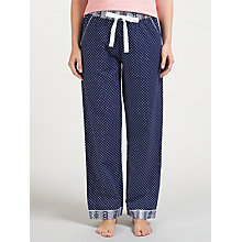 Buy John Lewis Teardrop Print Pyjama Bottoms, Navy/Ivory Online at johnlewis.com